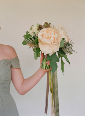 Bouquet Tied with Ribbons