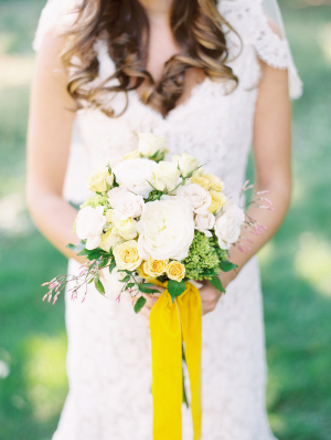 Bouquet with Yellow Ribbons