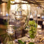 Branch Centerpiece with Hanging Votives
