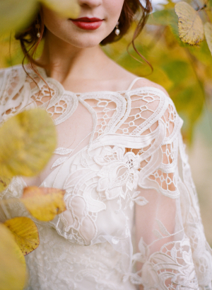 Bridal Gown Lace Overlay