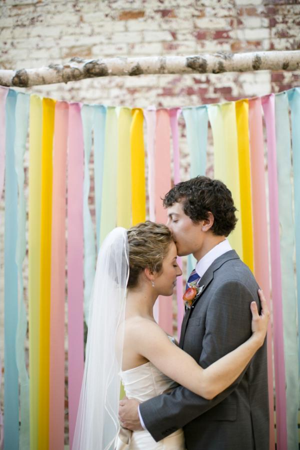 Bride and Groom Ribbon Altar