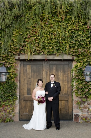 Bride and Groom Winery Wedding