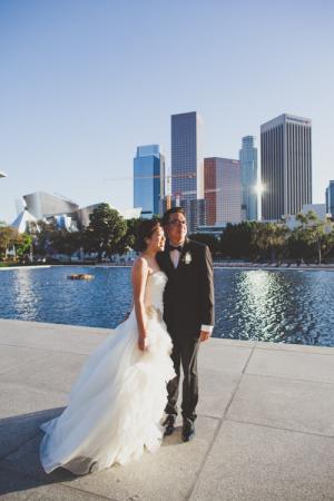 Bride and Groom in LA