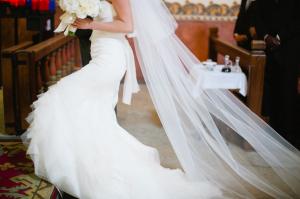 Bride at Cathedral Wedding