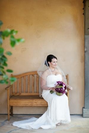 Bride at Winery Wedding