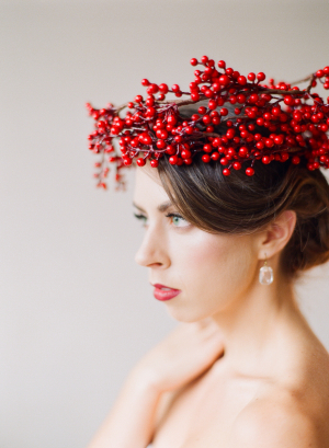 Bride in Berry Wreath