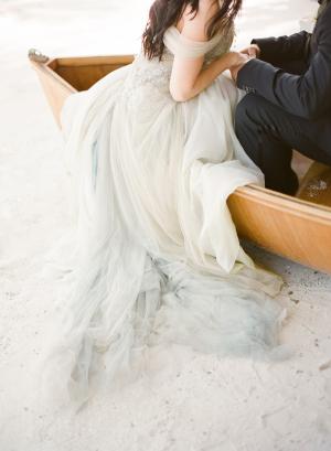 Bride in Boat