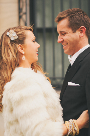 Bride in Fur Stole