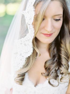 Bride in Mantilla Veil1