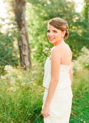 Bride in Nicole Miller Gown