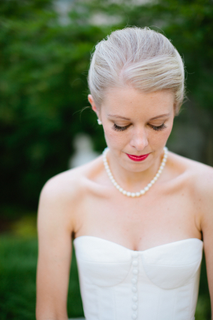 Bride in Pearl Necklace