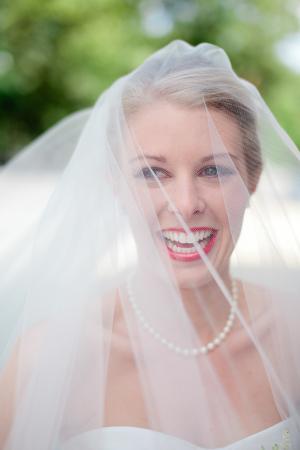 Bride in Pink Lipstick