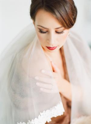 Bride in Red Lipstick