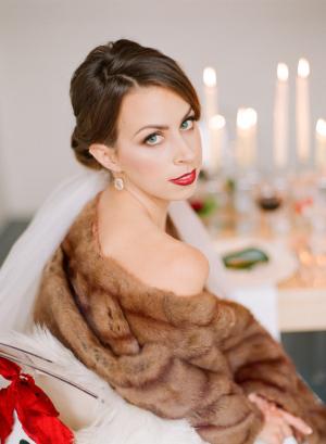 Bride in Vintage Wrap