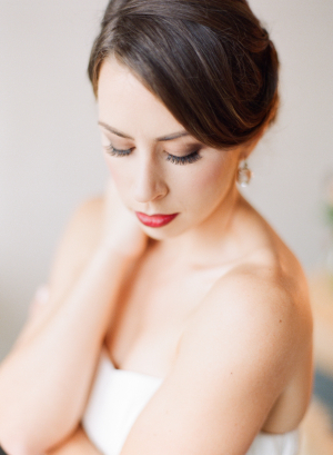 Bride with Red Lipstick