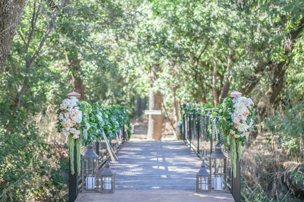 Bridge with Lanterns and Flowers