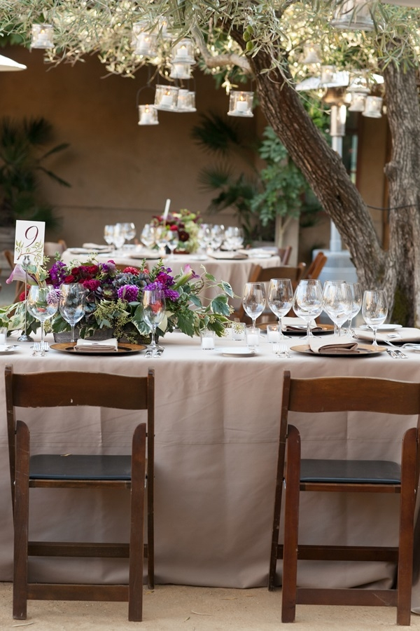 Brown and Purple Outdoor Reception