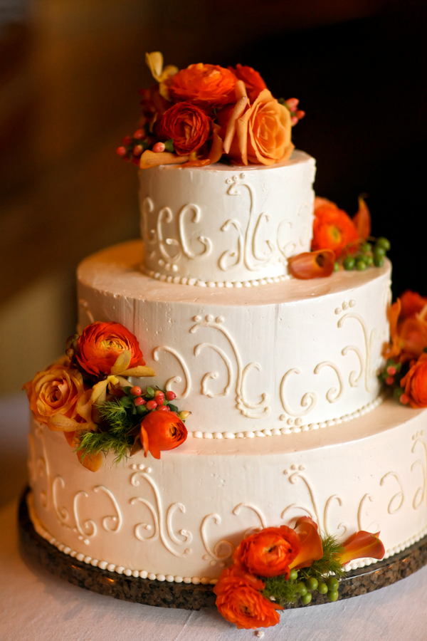 Brown And Pink Wedding Cakes