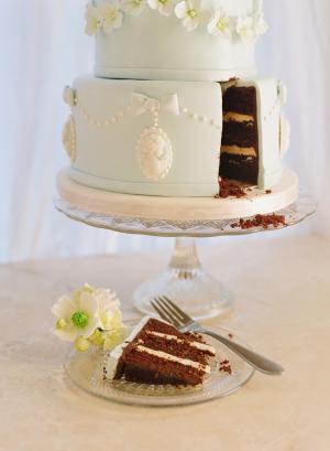 Cake Cut at Wedding