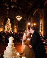 Cake Cutting Ballroom Wedding
