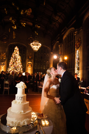 Cake Cutting Ballroom Wedding