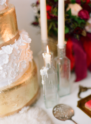 Candles in Clear Bottles
