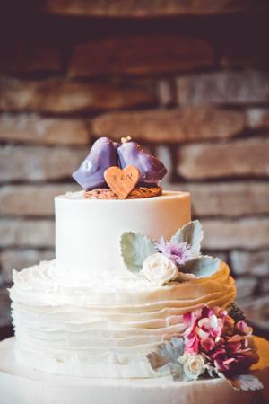 Ceramic Birds on Wedding Cake
