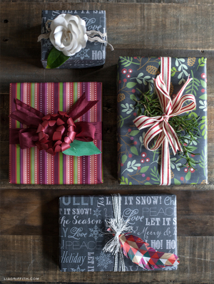 Chalkboard Gift Wrap Printable from Lia Griffith