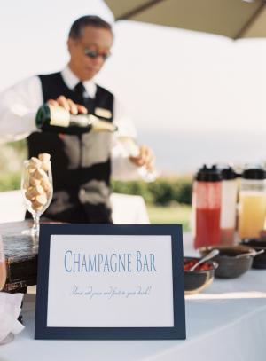 Champagne Bar at Wedding