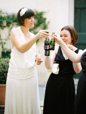 Champagne Toast After Wedding