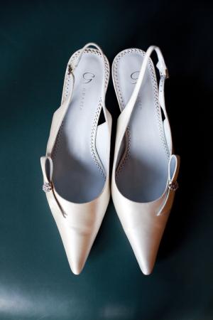 Classic Slingback Bridal Shoes