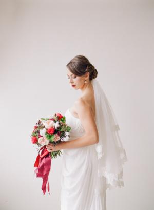Classic Winter Bridal Look