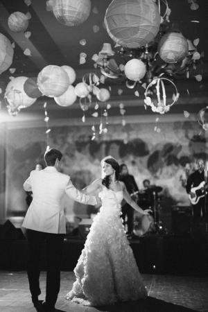 Dance Floor Under Paper Lanterns