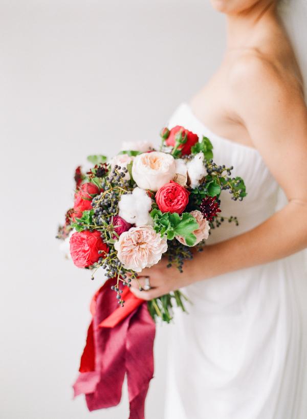 Elegant Garnet Bouquet