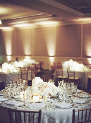 Elegant Ivory and Silver Tabletop