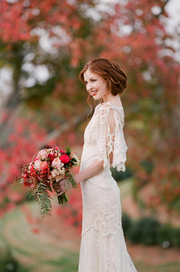 Elegant Lace Claire Pettibone Gown