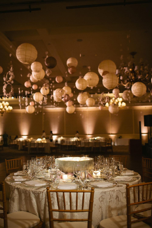 Modern elegant ballroom wedding elizabeth anne designs for Classy wedding table decorations