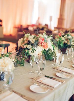 Elegant Peach Blue Gray Wedding