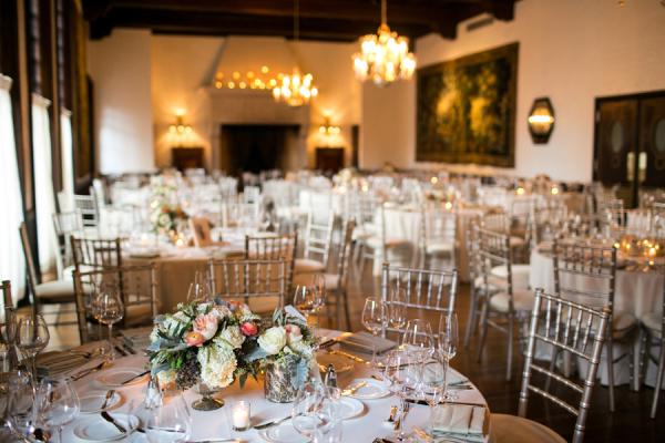 Elegant Peach Silver Wedding