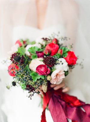 Elegant Red Winter Bouquet