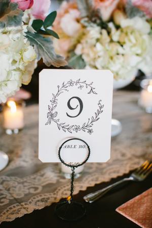 Elegant Vintage Style Table Numbers