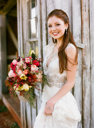 Embroidered Claire Pettibone Gown