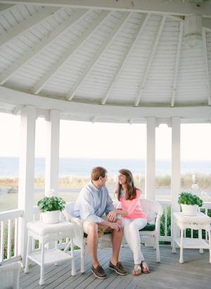 Engagement Photos in Gazebo