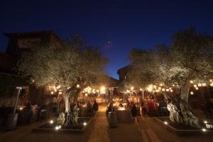 Evening Reception Under Tree Lights