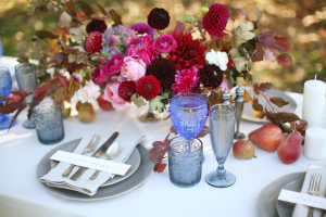 Fall Florals and Fruit Table Decor