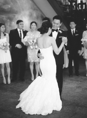 First Dance Photo in Black and White
