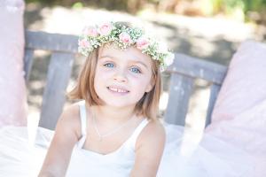 Flower Girl in Wreath