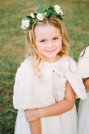 Flower Girl with Floral Wreath