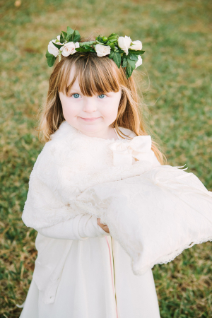 Flower Girl with Pillow