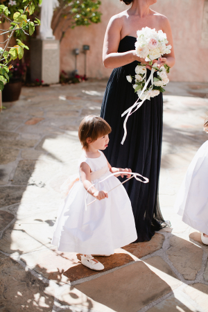Flower Girl with Ribbon Wand